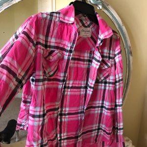 Hot pink Aeropostale flannel